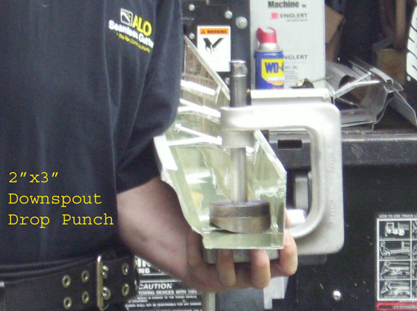 Downspout-Drop-Hole-Punch-Setup