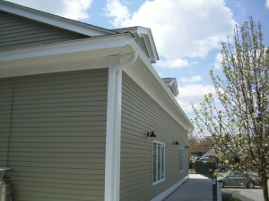 """6 inch commercial gutter and 3""""x4"""" large downspout"""