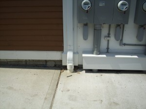 """3""""x4"""" Downspout to inground drain adaptor"""