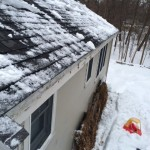 Roofline After Snow and Ice Removal