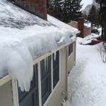 Roofline Before Ice Dam Removal